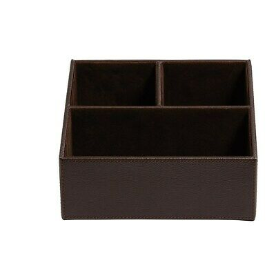 Staples Desk Organizer Faux Leather Brown 2721130