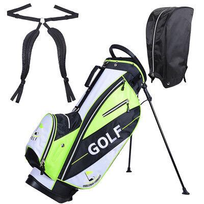 Golf Carry Cart Bag 14 Way Organizer Divider Stand w/Rain Hood & 7 Zipper Pocket Golf Bag Organizer