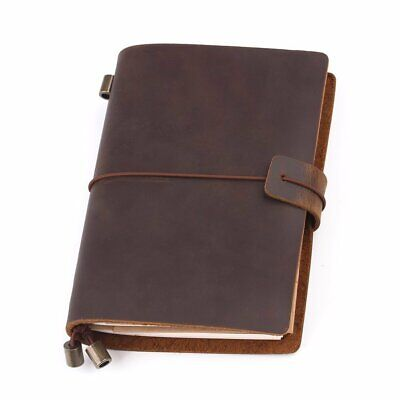 Handmade Leather Journal With Strap / Lined, Graph and Plain Paper Refill