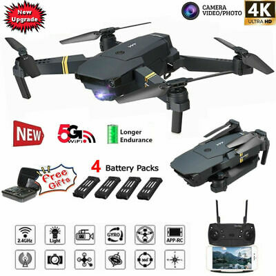 2020 E58 2.4GHz RC Drone FPV Wifi 4K HD Camera 6-Axis Foldable Quadcopter US HOT