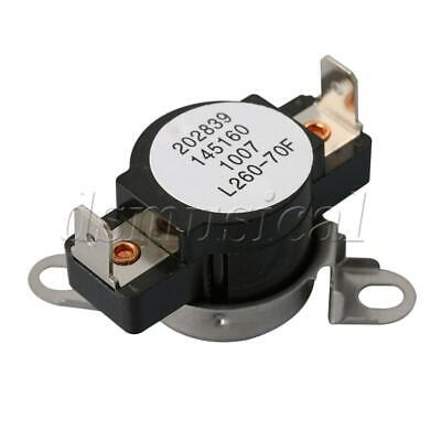 Black Metal Dryer Safety Thermostat 3204267 Fit for Dryer Thermostat Replacement