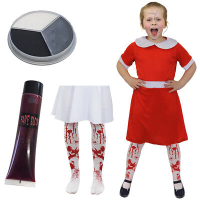 GIRLS SCARY DOLL COSTUME BROKEN CHINA RAG DOLL HALLOWEEN CHILDS FANCY DRESS](Halloween Costumes Scary Rag Doll)