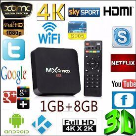 New Mxq Pro Android Box kodi 16.1, 4K Mxq Pro New Quad Core Android 5.1 2.4G wifi MXQ pro TV Box