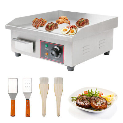 22 Electric Countertop Flat Top Griddle 110v 3000w Non-stick Grill 122f-572f