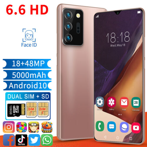 """Android Phone - 6.6"""" Dual Sim Quad Core Android Smartphone Face Unlocked Mobile Phone 3G 2020 AU"""