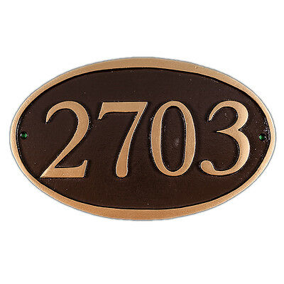 FERRIS Address Plaque Lawn Marker House Sign Numbers wall Custom Made order ()