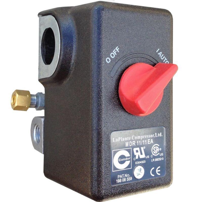 Condor USA MDR11 Air Compressor Pressure Switch 105-135PSI, 26FLA/156LRA