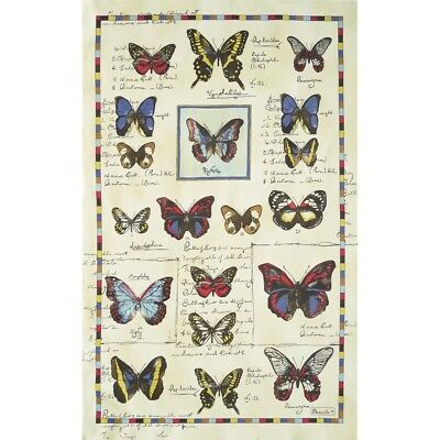 BEAUVILLE Kitchen Towel FRENCH Summer Colorful Butterfly Nature Papillons $28