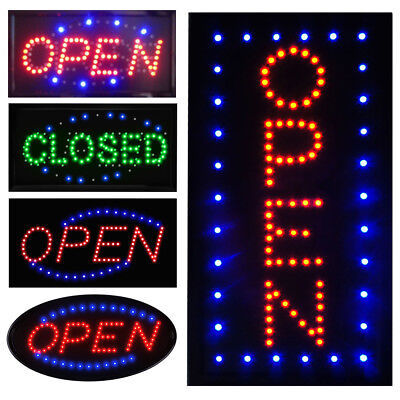 Ultra Bright Led Neon Light Business Sign Animated Motion Display Open W Onoff