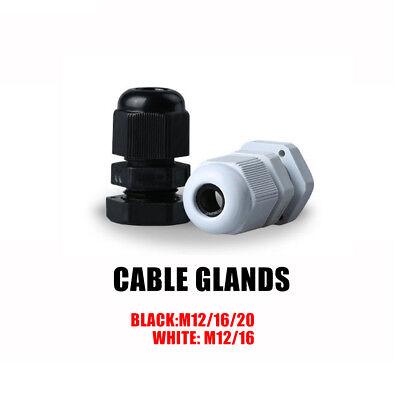 151015 Pcs Blackwhite Nylon Waterproof Cable Gland Lock-nut Gasket Ip68 Us