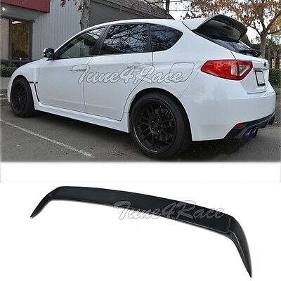 For 08-14 Subaru Impreza WRX STI Hatch Rear Spoiler Wagon Body Kit Add On Wing for sale  USA