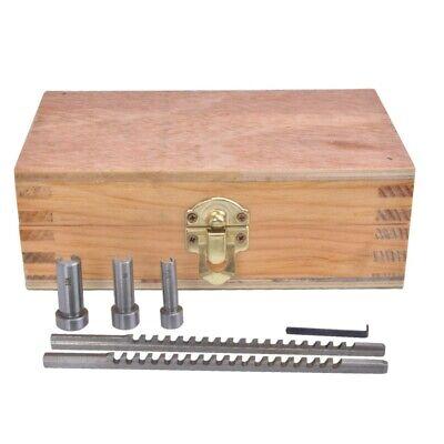 6pcs Keyway Broach Set Metric Size 2mm 3mm Cutter6810 Collared Bushing1 Shim