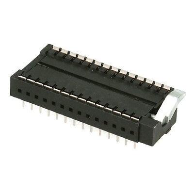 Aries Electronics 28-526-10 Connector Zif Socket Skt 28 Position 2.54mm Solder S