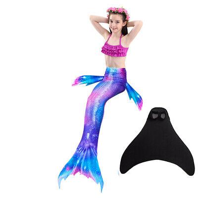 Girls Bikini Swimwear (PURPLE Mermaid Tail Kids Girls Swimming Swimmable Bikini Swimwear for Pool)
