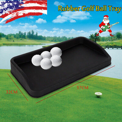 Rubber Golf Ball Tray Large (Can Hold 100 Golf Balls) Holiday Christmas Gift NEW ()