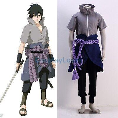 Naruto Uchiha Sasuke 6th Halloween Cosplay Costume Anime