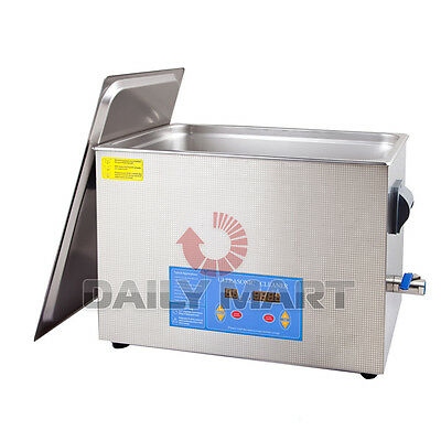 Professional 20l Liter Digital Ultrasonic Cleaner Timer Heater Wcleaning Bask