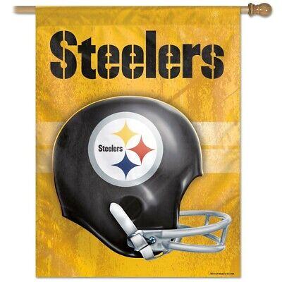 Throwback Vertical Flag - Pittsburgh Steelers 28X40 NFL Helmet Flag Vertical Banner Retro Throwback