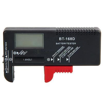 ABS Digital LCD Universal AA/AAA/9V/1.5V Battery Volt Tester Checker BT-168D