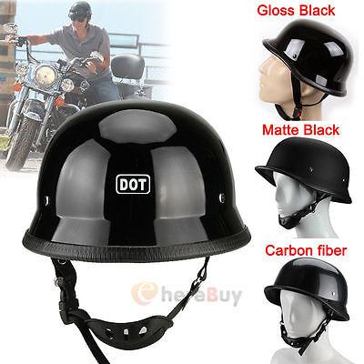 DOT Motorcycle German Half Face Helmet For Harley Chopper Cruiser Biker M/L/XL