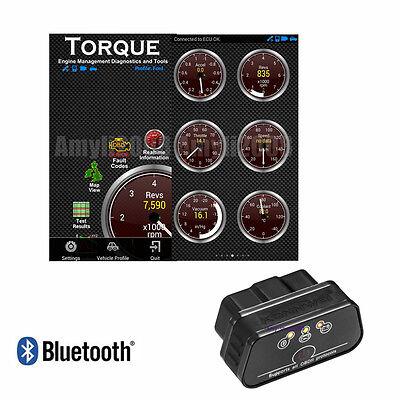 ELM327 Bluetooth OBDII OBD2 Car Code Reader Scanner Engine Check Diagnostic