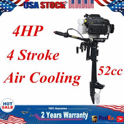 4HP 4 Stroke Outboard Motor for Fishing Boat Engine 52cc 2.8KW + Air Cooling CDI 4 Stroke Outboard Engines