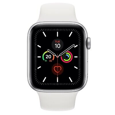 Apple Watch Series 5 GPS 44mm MWVD2 Silver Aluminum Caja Blanca Sport Band