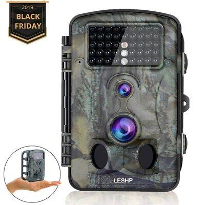 HD 12MP 1080P Hunting Trail Camera Video Wildlife Scouting IR Night Vision 65ft