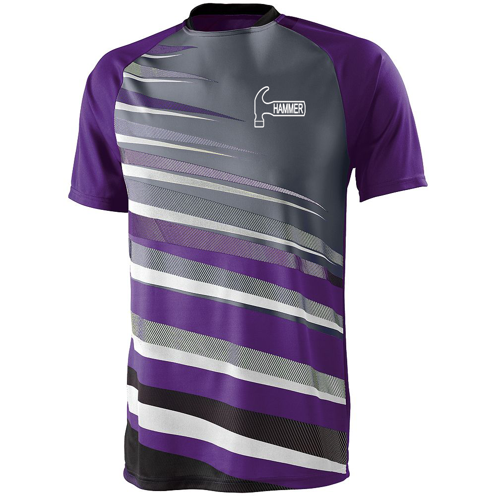 Hammer Men's Sauce Performance Jersey Bowling Shirt Dri-fit Purple