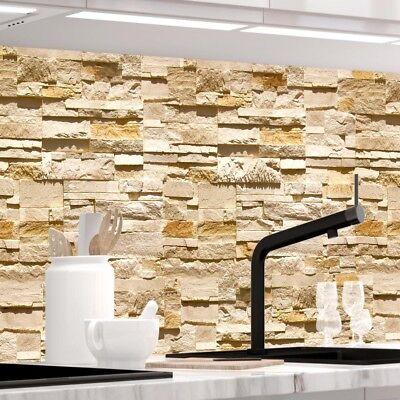 Jede Küche (Küchenrückwand - STEINWAND ASHLAR- 1.5mm Hart-Material, jeder Untergrund möglich)