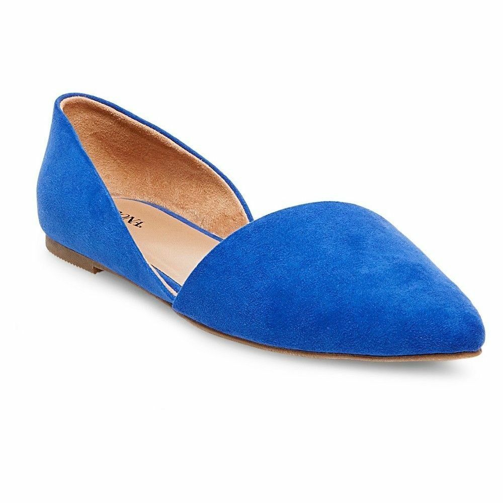 NEW Women's Poppy D'Orsay Pointed Toe Ballet Flats - Merona - Blue - Size 9