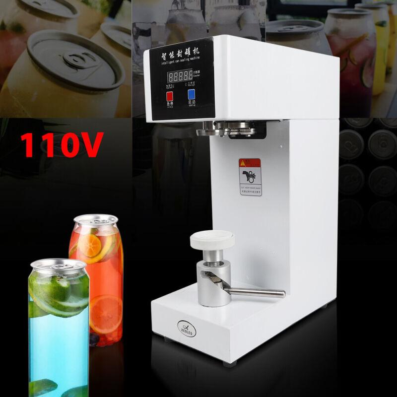 110V Auto Tin Can Sealer Sealing Machine Aluminum Beer Cola Fruit Can Seamer USA