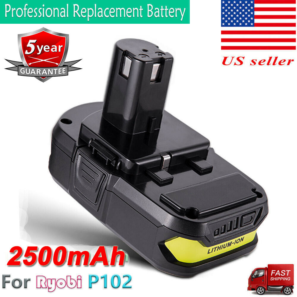 18 Volt P102 Lithium-Ion Battery For Ryobi 18V One Plus P103
