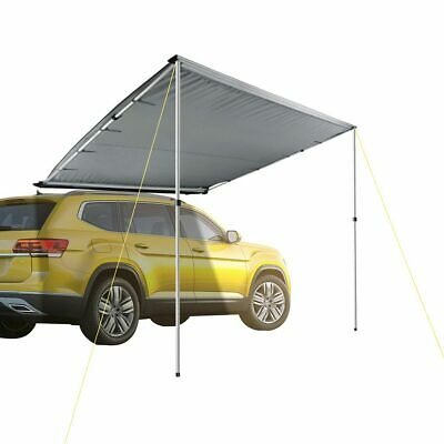 7.6x8.2ft Car Side Awning Rooftop Tent Sun Shade SUV Outdoor Camping Travel Grey