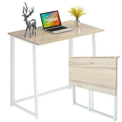 Folding Computer Desk Wooden Foldable Study Table Home Office Laptop PC Table