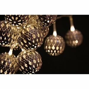 GRAND MAROQ LED STRING LIGHTS : MOROCCAN 24 LED FAIRY LIGHTS MAINS OPERATED