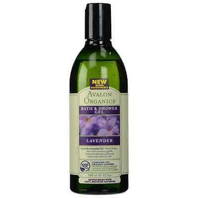 Avalon Organics Bath - Shower Gel, Lavender 12 oz