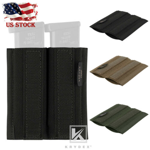 KRYDEX 9mm Pistol Double Mag Elastic Insert for Tactical Micro Fight Chest Rig
