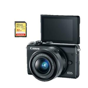 EOS M100 EF-M 15-45mm IS STM Kit Black +64GB MEMORY CARD