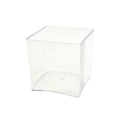 Clear Plastic Square Vase Display, 5-Inch x 5-Inch](Clear Plastic Vase)