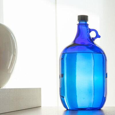 Globo de Cristal Botella 5 Litros Azul Galón Damajuana Henkelflasche Vino Agua
