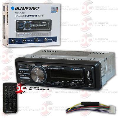 Blaupunkt Columbus100bt Car Audio 1 Din Usb Mp3 Digital Media Bluetooth Stereo
