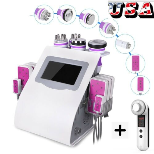 6IN1 Cavitation Machine Ultrasonic RF Vacuum Slimming Machine Fat Loss Contour