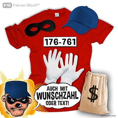 Panzerknacker T-Shirt  Kostüm Set Wunschnummer Karneval JGA Fasching S-5XL