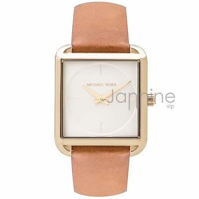 Michael Kors Authentic Watch MK2584 Lake Brown Leather Women's 32mm x 39mm