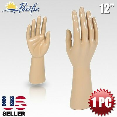 Male Mannequin Hand Display Jewelry Bracelet Ring Glove Stand Holder Naked H-1