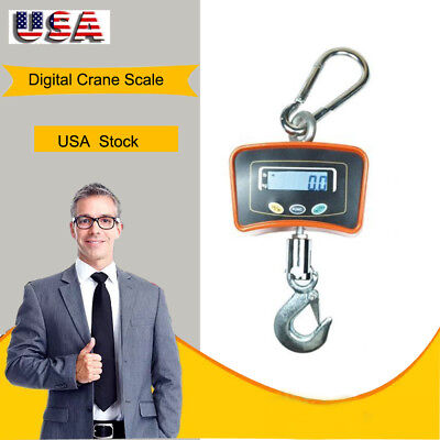 500kg 1100 Lbs High Precision Crane Scale Heavy Duty Hanging Scale Lcd Usa Ship