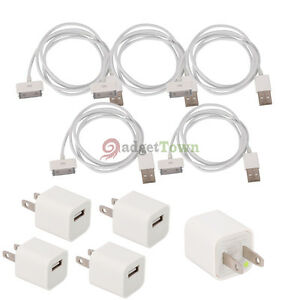 5-New-Wall-Charger-Adapter-USB-Data-Cable-for-Apple-Iphone-4-4S-3G-3GS-Ipod