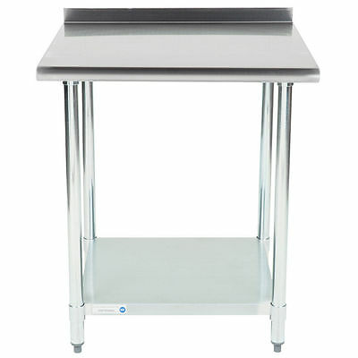 New 30 X 30 Stainless Steel Work Prep Table Undershelf Restaurant Backsplash