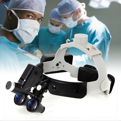 Dental Medical Surgical Binocular Loupes 3.5x420mm Optical Glass Loupe Headlight